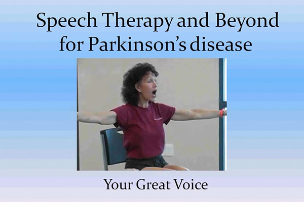 Speech therapy, Parkinsons, with Voice Aerobics