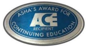 Proud recipient of the Asha's Award for Continuing Education